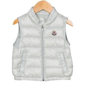 Moncler Toddlers Amaury Gilet Grey Vest 9-12m